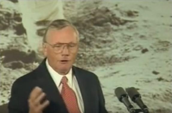 Neil Armstrong, We 20-July-1994, in the White House